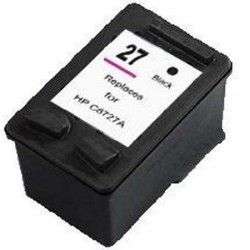 Cartucho de tinta compatible con HP C8727A Black N27