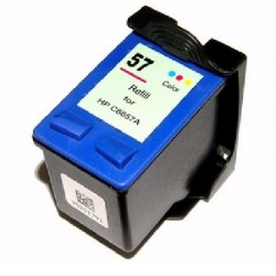 Cartucho de tinta compatible con HP C6657A Tricolor N57