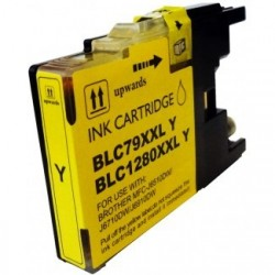Cartucho de tinta compatible con Brother CB1280Y/XL Yellow.