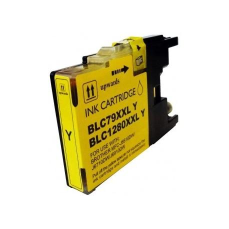 Cartucho de tinta compatible con Brother CB1280Y/XL Yellow.