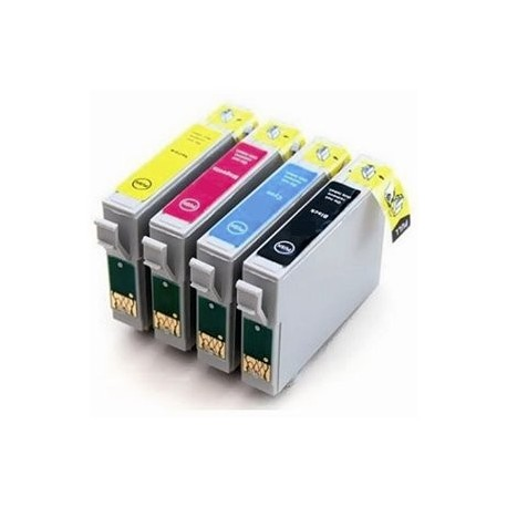 Cartucho de tinta compatible con EPSON T1004 YELLOW 18ML.
