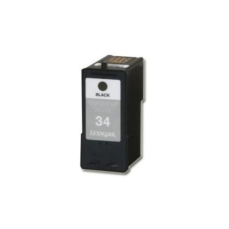 Cartucho de tinta compatible con LEXMARK Nº34 NEGRO 25ML.