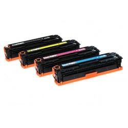 Cartucho de toner compatible con HP CB540 y CANON 716 Cyan 1400 Pag.