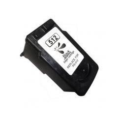 Tinta compatible CANON PG 512 PIXMA IP2700/3600/4850/MP230/240/250/260/270/MG5150/52506150/8150/MX340/350 (Origi 400p) BK