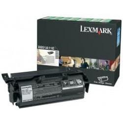 Toner compatible Lexmark X651A11E