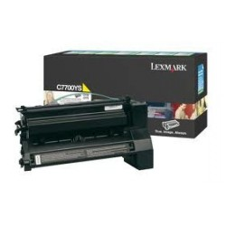 Toner compatible Lexmark C7700YS Amarillo