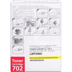 TONER COMPATIBLE CANON 702 9642A004 YELLOW