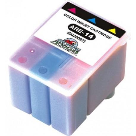 Cartucho de tinta compatible con Epson S020097 Tricolor