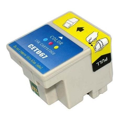 Cartucho de tinta compatible con Epson T067040 Tricolor