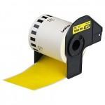 Cinta amarilla continua de papel termico DK22606 BROTHER