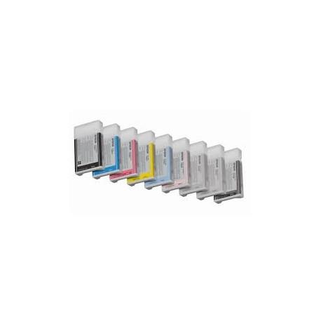 Cartucho de tinta compatible con PSON T5637 BLACK LIGHT 220ML.