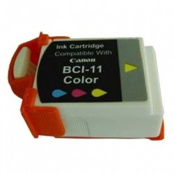 Cartucho de tinta compatible con Canon BCI11C Color