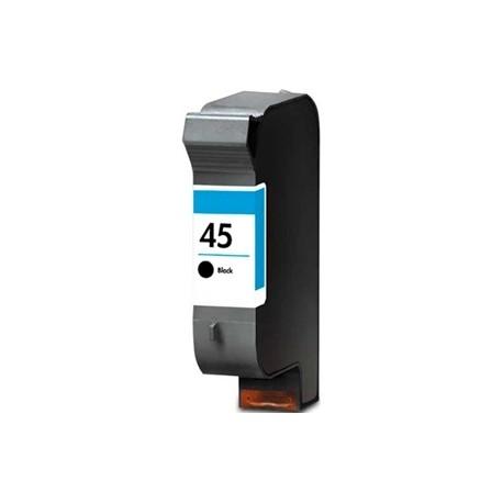 Cartucho de tinta compatible con HP 51645A Black N45