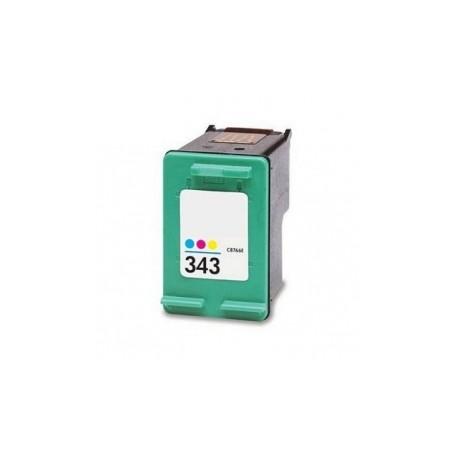Cartucho de tinta remanufacturada con HP C8766E Tricolor Nº 343 21ml