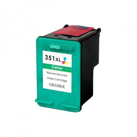 Cartucho de tinta compatible con HPCB338E Tricolor N351XL