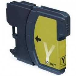 Tinta Compatible Brother LC980 LC1100 Amarillo