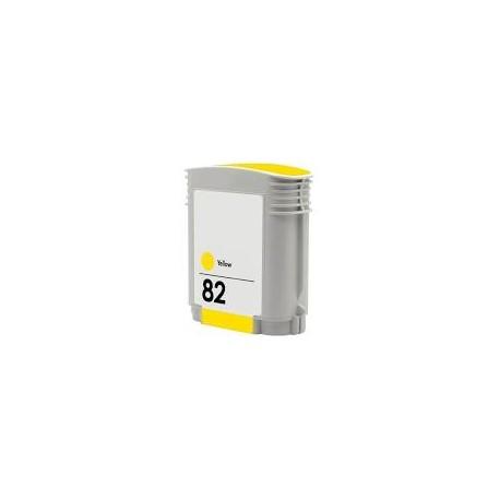 Cartucho de tinta compatible con HP Nº82 C4913A YELLOW 69ML.