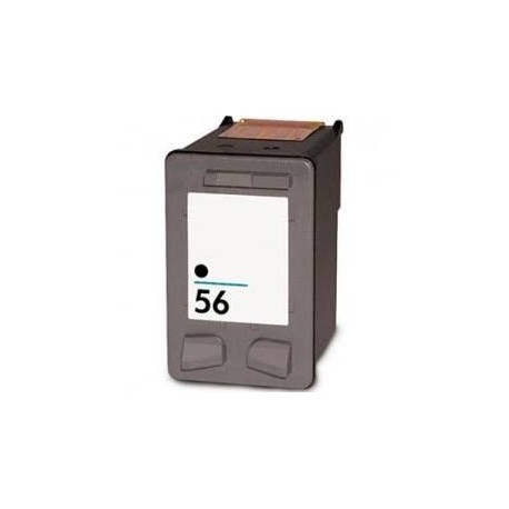 Cartucho de tinta compatible con HP C6656A Black N56