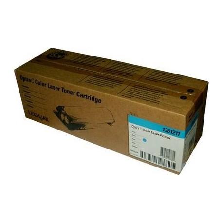 Cartucho de toner compatible con Lexmark 1361211 Cyan (4.000 pag.)