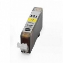 Cartucho de tinta compatible con Canon CLI 521Y Yellow (10,5ML)