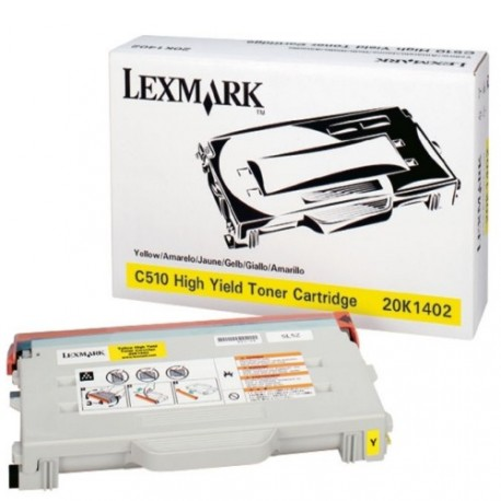 Cartucho de toner compatible con Lexmark 20K1402 Yellow (6.600 pag.)